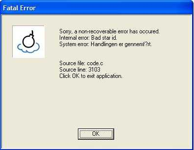 ftl an error occurred starting the application